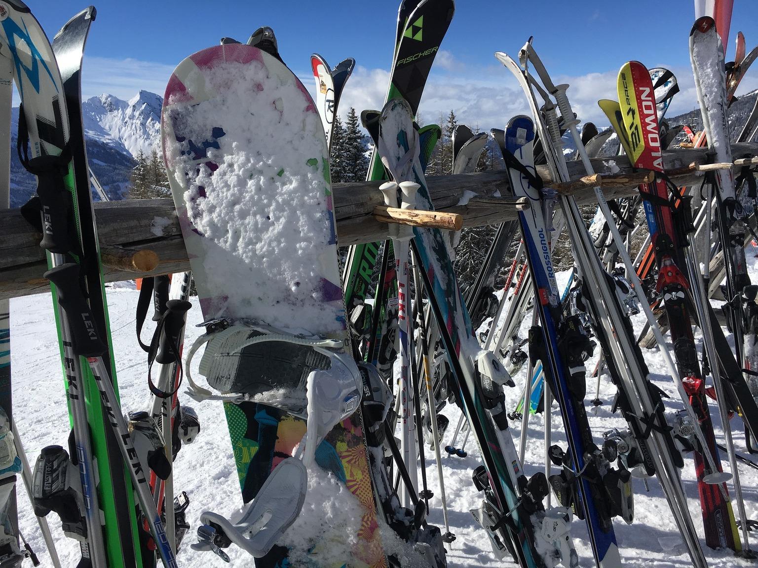 スキー場のスノーボード