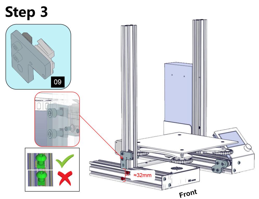 Ender3組み立ての注意点 Step3