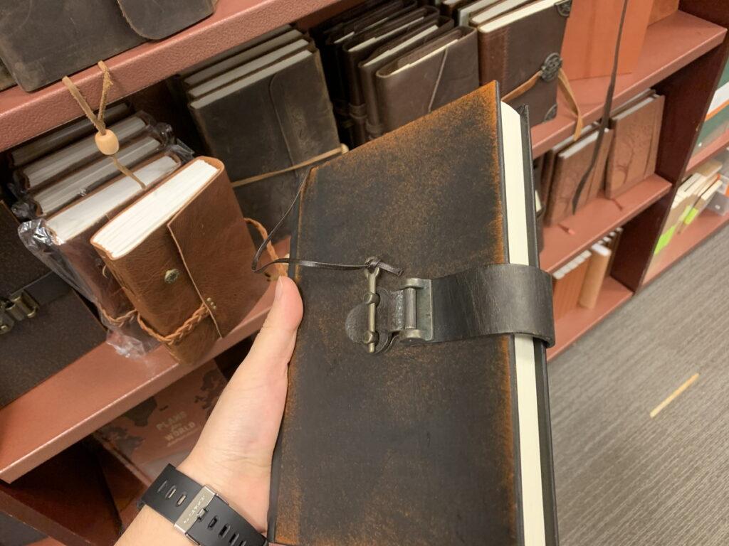 革張りの日記帳