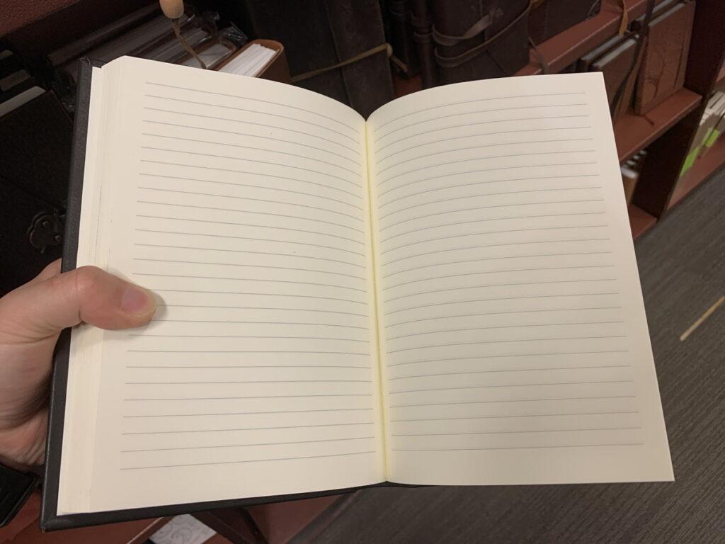 革張りの日記帳 ページ