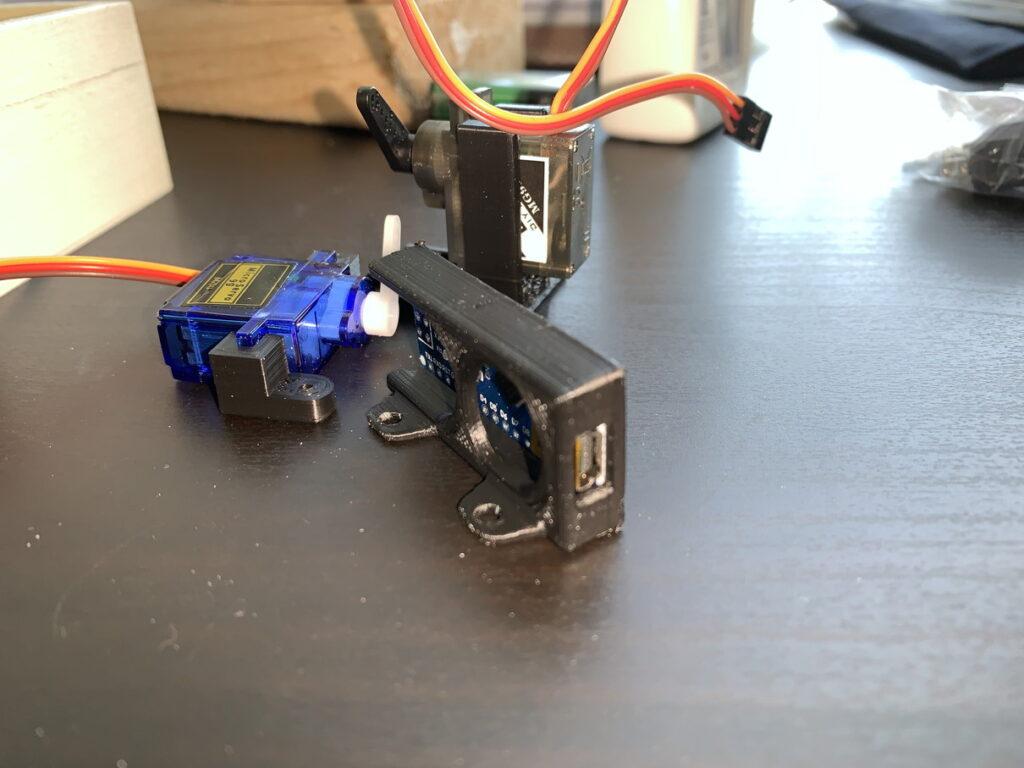 Aruduino nano ブラケット、サーボモーターブラケット
