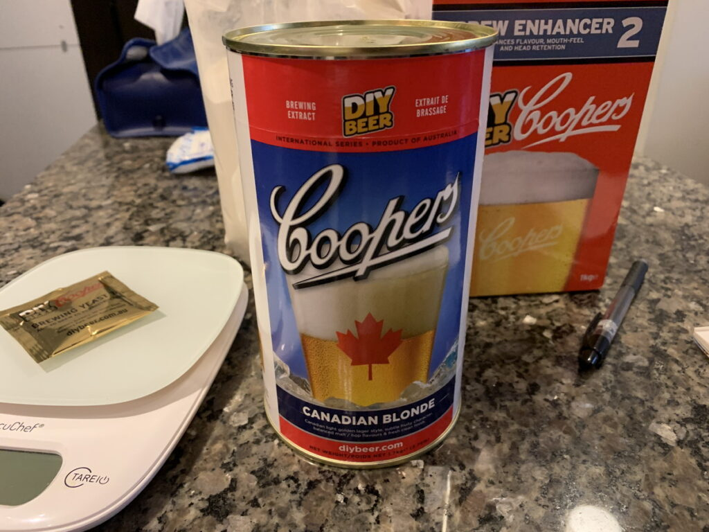 COOPERS CANADIAN BLONDE BREWING EXTRACT