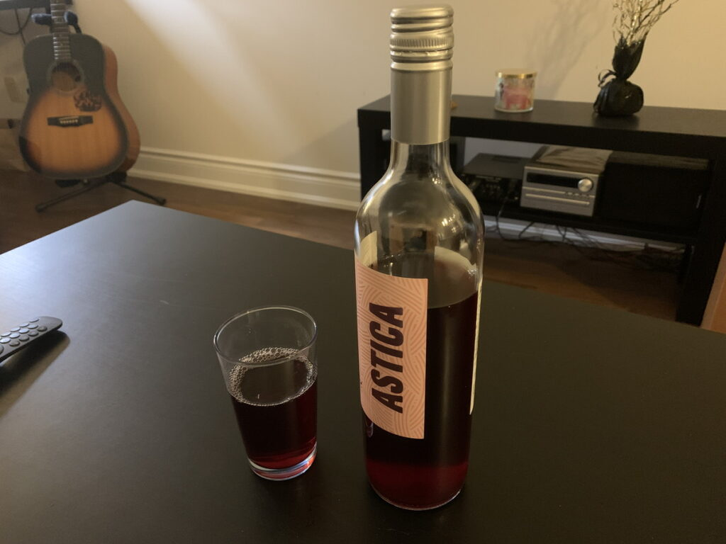 ぶどうジュースで作ったワイン