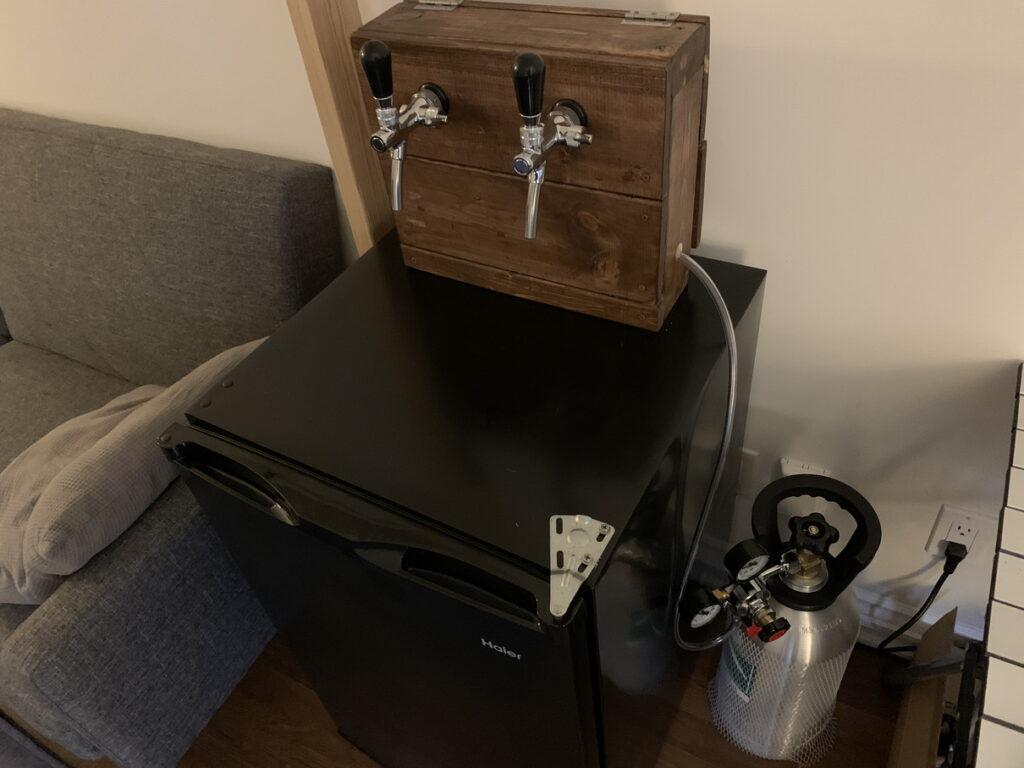 完成した自作ビールサーバー