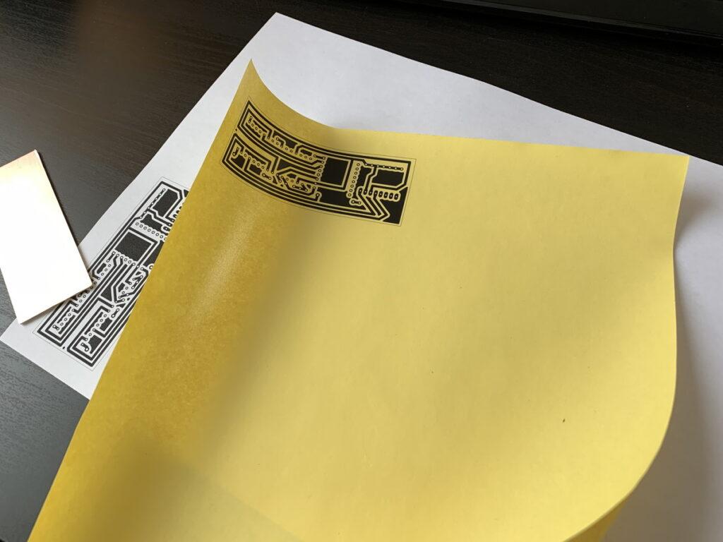 レーザープリンターで転写シートにフットパターンを印刷