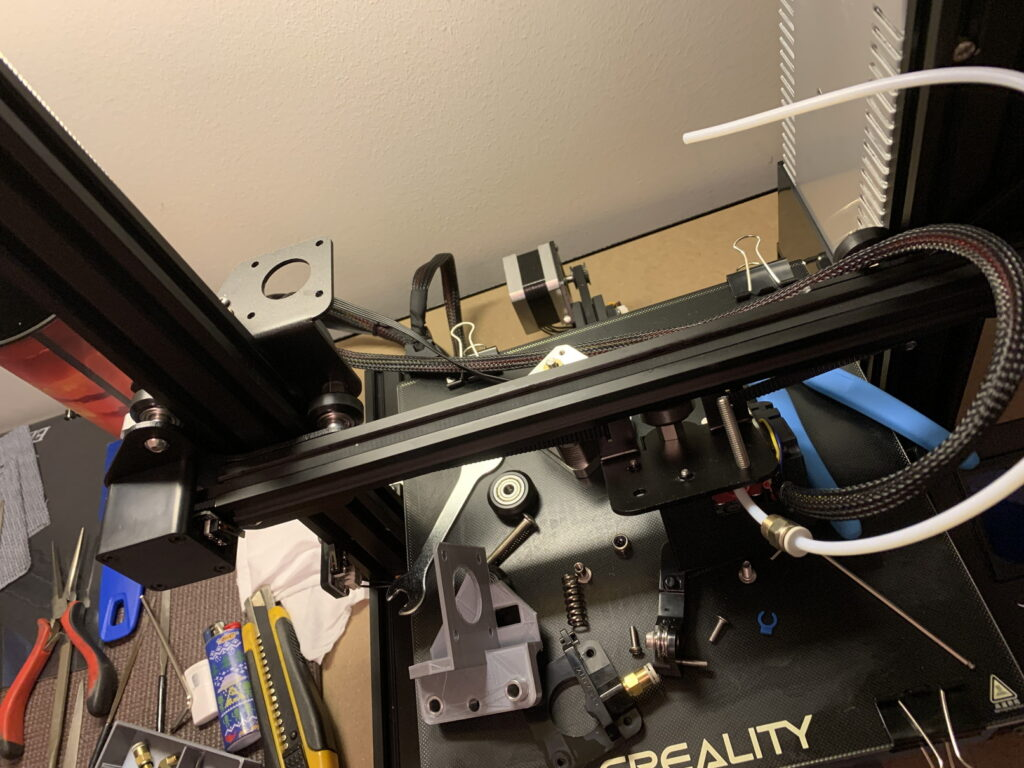 3Dプリンター Ender3 エクストルーダー取り外し