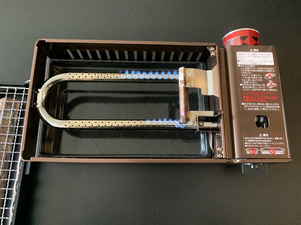 イワタニ 炉端焼き器 炙りや CB-ABR-1 カバー無し点火